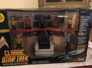 UNopen numbered Star Trek bridge collectible action figures that for Sale in Raleigh, NC