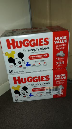 Baby Wipes Huggies Simply Clean total 1408 Wipes both boxes for $25 multiple combos available for Sale in Phoenix, AZ