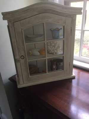 Antique small wood cabinet for Sale in Arlington, VA