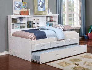 New Twin Bookcase Daybed, Twin Trundle, 3-Drawers or 6-Drawers (Delivery Available) for Sale in Arlington, TX