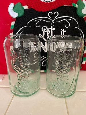 Coca cola glass cups for Sale in Fontana, CA