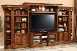 7 Piece Entertainment Center TV Stand Book Shelves for Sale in St. Louis, MO