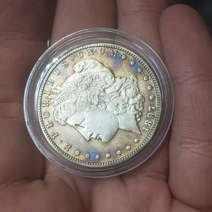 1897 S Prooflike PL Silver Morgan Dollar frosty white face deep toning toned monster tone for Sale in Las Vegas, NV