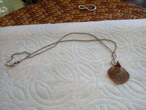 Copper Aspen leaf charm w/chain for Sale in Colorado Springs, CO