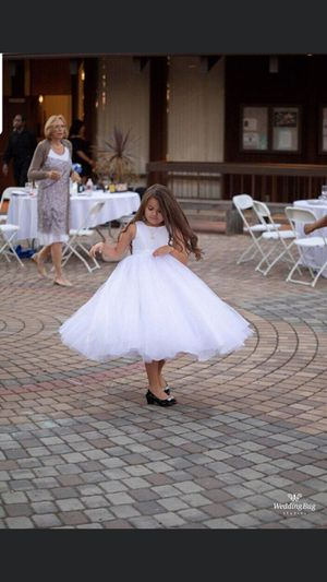 Flower girl dress with basket for Sale in Oakdale, CA