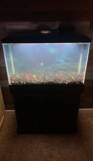 BRAND NEW 29 Gallon Fish Tank (Complete Set Up) for Sale in Clovis, CA