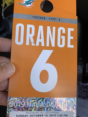 Orange Parking pass Dolphins for Sale in Homestead, FL