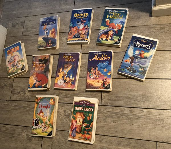 10 Disney movies on VHS