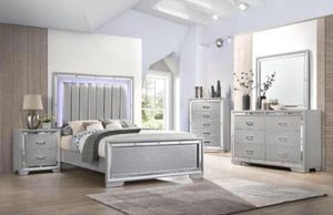 Queen Size LED Bed with Dresser, Mirror, and Nightstand. $53 Down. financing available. 786📞322📞6411 for Sale in Miami Lakes, FL