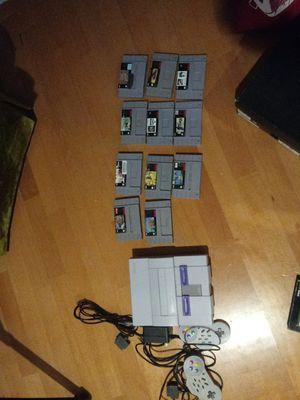 Super nintendo console + 11 games for Sale in Boston, MA