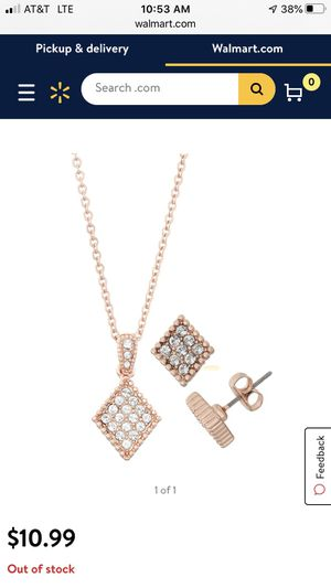 Rose Gold Necklace and Earring Sets for Sale in Charlotte, NC