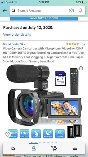 Video camcorder, great for you tuber for Sale in Centereach, NY