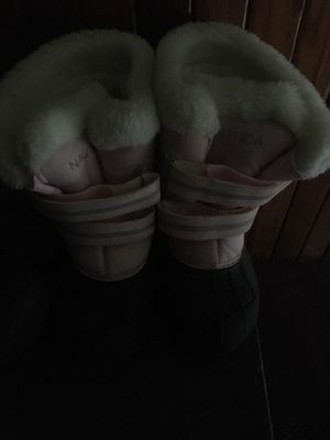 Nautica Girls Size 11 Winter boots with Plush Fur inside pink/grey for Sale in East Providence, RI