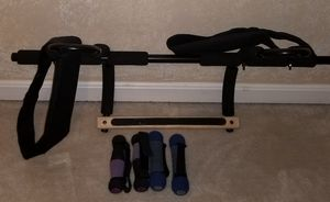 Pull up bar & weights for Sale in Dumfries, VA