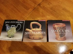 3 Ceramics Books - 500 Cups - 500 Pitchers - 500 Teapots for Sale in Gilbert, AZ