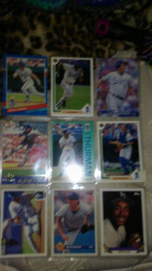 Kansas city royals baseball cards for Sale in Sedgwick, KS