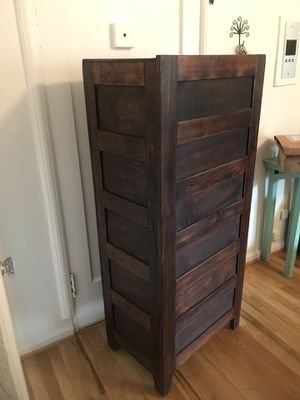 Antique 4-drawer wood filing cabinet for Sale in Portland, OR