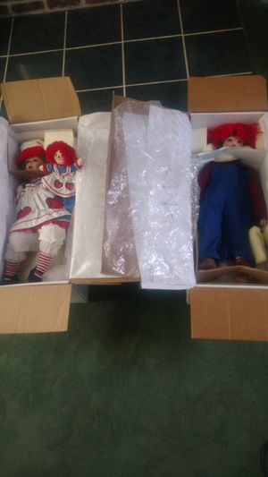 Porcelain Raggedy Ann & Andy Dolls for Sale in Tionesta, PA