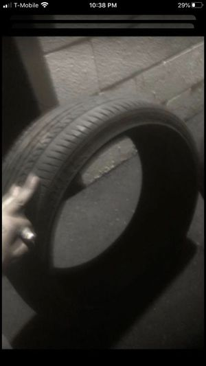 Two tires both 205/40/18. One Dunlop 70% tread and One Nankang 90% tread for Sale in Temecula, CA