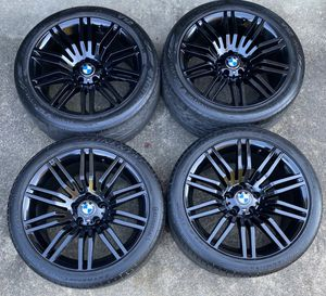 BMW WHEELS BLACK STYLE 172 BOLT PATTERN 5x120 STAGGERED 19x8.5/9.5 245/45/19 FRONT 275/35/19 REAR for Sale in Fort Washington, MD