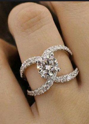 925 Sterling Silver Filled Brilliant White Sapphire Ring for Sale in Wichita, KS