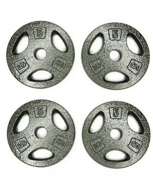 """CAP 5 LB Weight Plates 1"""" Standard Grip Weights Set of 4 20lbs Total New for Sale in Tacoma, WA"""