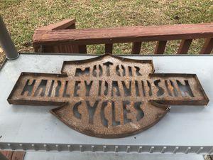 Harley Davidson motorcycle metal sign 65obo for Sale in Jacksonville, FL