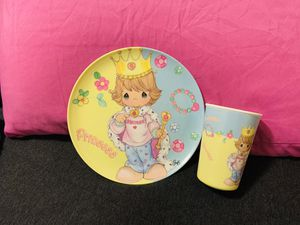 Precious Moments Plastic Plate & Cup Set for Sale in Hartsville, SC