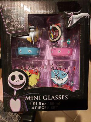 Disney nightmare before Christmas shot glasses for Sale in Oceanside, CA