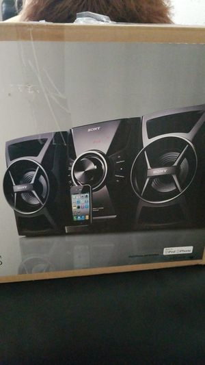 100W Sony iPod iPhone stereo system dock for Sale in Hampton, VA
