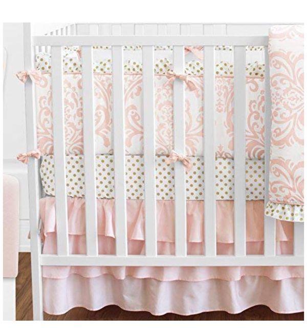 Baby Girl 9 Piece Crib Comforter Set