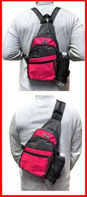 Brand NEW! Pink/Grey Crossbody/Side Bag/Sling/Pouch Converts to Backpack Style For Outdoors/Hiking/Biking/Fishing/Camping/Sports/Gym for Sale in Torrance, CA