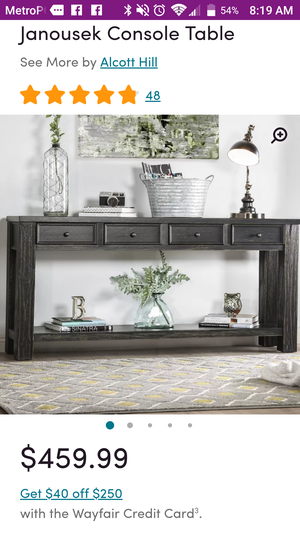 Console table brand new in box for Sale in Kissimmee, FL