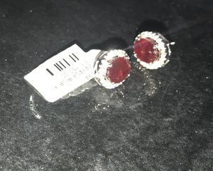 Ruby and diamonds earrings. for Sale in Tampa, FL