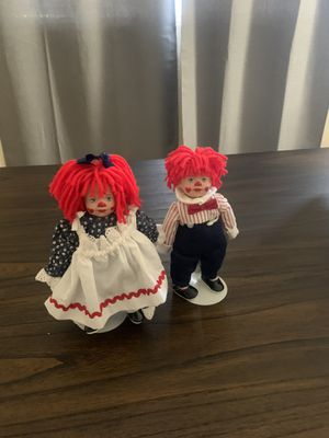 Raggedy Ann & Andy for Sale in YSLETA SUR, TX