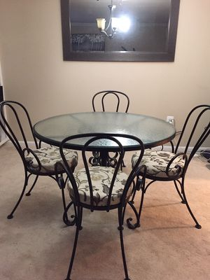 Wrought Iron Dining Table with 4 Chairs for Sale in Sterling, VA