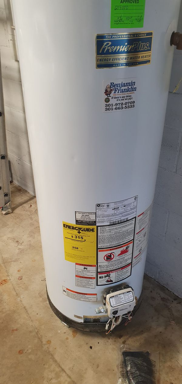 Water heater 50 gal natural gas
