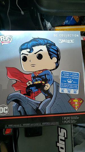 Gamestop Exclusive Superman funko Pop and Tee for Sale in Newberg, OR