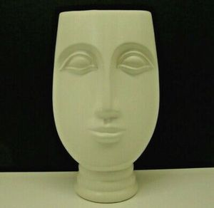 Northern Europe Simple Decoration White Ceramic Art Flower Face Vase 12 in for Sale in Glendale, CA