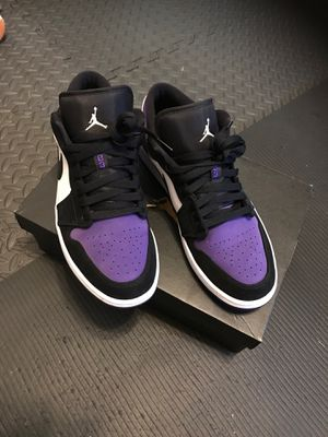 Jordan 1 low court purple for Sale in Dallas, TX