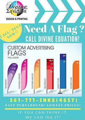 CUSTOM FLAGS! Events, promotional, advertising, Signs! for Sale in West Palm Beach, FL