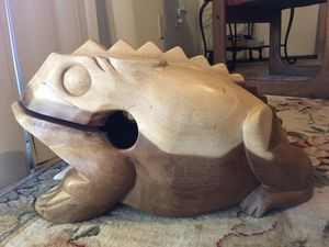 HUGE Bull Frog. Percussion Musical instrument for Sale in San Diego, CA