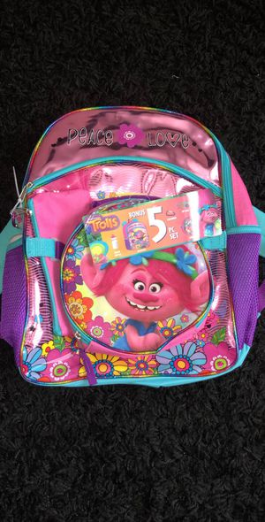 Trolls backpack for Sale in Palatine, IL