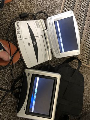Car or home portable DVD player 2 screens for Sale in West Valley City, UT
