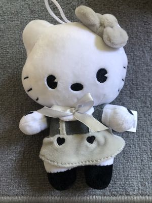 Hello kitty black and white rare plush doll for Sale in Manteca, CA