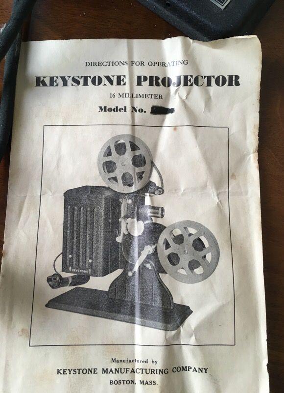 Vintage Keystone Projector Model E86 19 Millimeter for Sale in Las Vegas,  NV - OfferUp