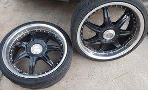 Black tires with rim's 315-35-18 for Sale in Fresno, CA