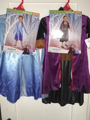 Anna and Elsa Frozen 2 costumes for Sale in San Bernardino, CA