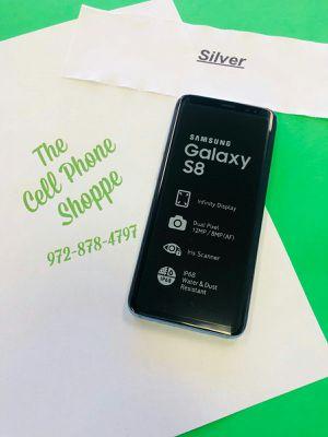 Samsung Galaxy S8 Silver Unlocked Ready for att tmobile metro cricket for Sale in Carrollton, TX