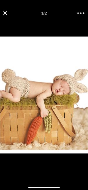 Baby bunny crochet outfit for pictures for Sale in Fontana, CA